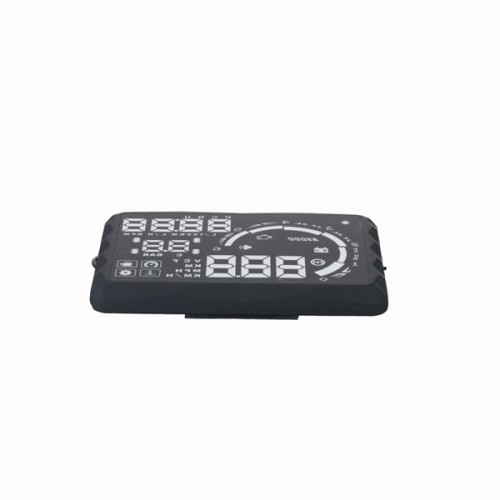 "5.5"" LED OBD-II HUD Head Up Display Over Speeding warning/speed/Km rpm/shift light/temperature S5"
