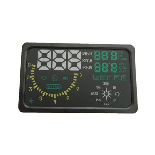 "New 6"" LED OBD-II HUD Head Up Display Over Speeding Warning/Speed/Km rpm/Shift Light/Temperature + Indicator I6 With Compass"