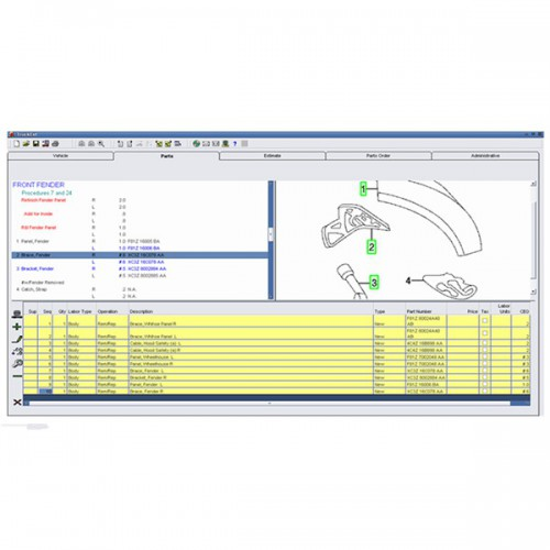 2014 Version Mitchell Heavy and Medium Truck Estimator System Support Win XP/7/8