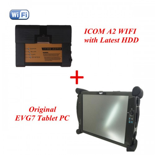 Latest V2016.03 ICOM A2+B+C For BMW A2 B C With WIFI With Latest HDD Plus Original EVG7 Tablet PC Installationed Ready Use