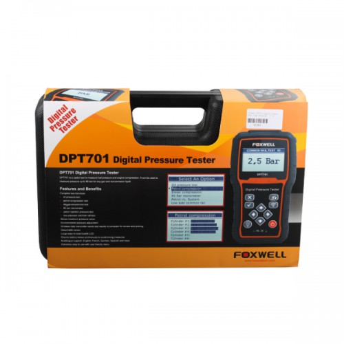 (DHL Free Shipping) Foxwell DPT701 Digital Common Rail High Pressure Tester 100% Original