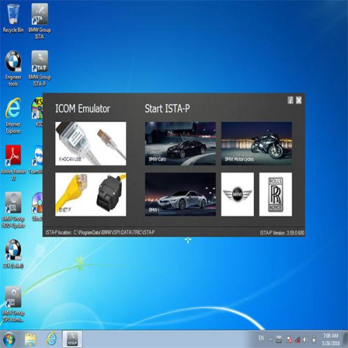 (Free Shipping No Tax) Cheap V2016.7 ICOM For BMW ICOM Software HDD ISTA-D 3.55.31 ISTA-P 3.59.0.600 with Engineers Programming Windows 7 System
