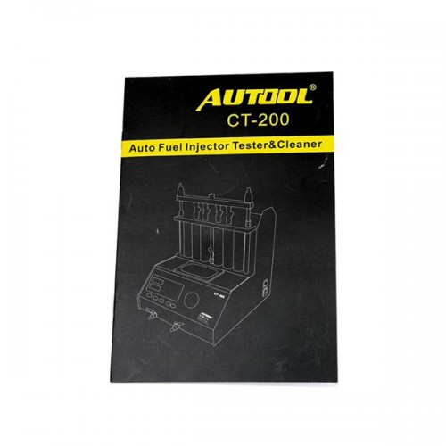 AUTOOL CT200 Ultrasonic Fuel Injector Cleaner & Tester Support 110V/220V with English Panel