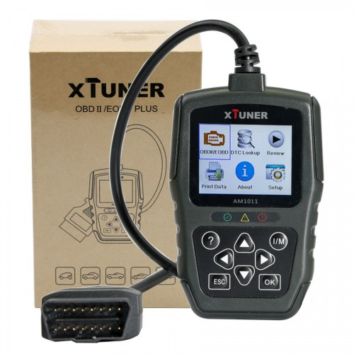 (Promo) XTUNER AM1011 OBDII/EOBD Plus Code Reader Multi-language Life-Time Warranty