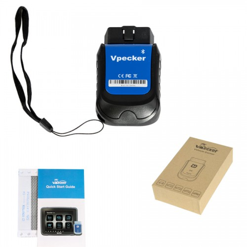 (Ship from UK) VPECKER E4 Phone Easydiag Bluetooth Full System OBDII Scaner for Android Support ABS Bleeding/Battery/DPF/EPB/Injector/Oil Reset/TPMS