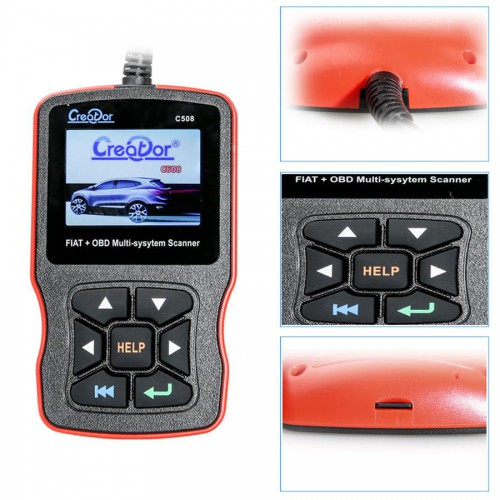 New Creator C508 OBDII/EOBD Multi-System Scanner for FIAT/Alfa/Abrath/Lancia Airbag/ABS Scan Tool