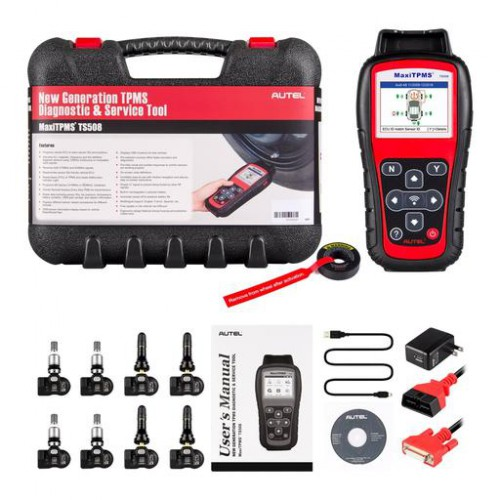 100% Original AUTEL MaxiTPMS TS508K TS508 TPMS diagnostic & service tool with 8pc Programmable 433/315MHz MX-Sensor Free Update