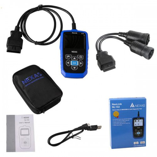 NexLink NL102 Heavy Duty And OBD/EOBD+CAN Diagnostic Tool