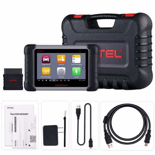 100% Original AUTEL MaxiCOM MK808BT OBD2 Car Diagnostic Tool Scanner Functions of EPB/IMMO/DPF/SAS/TMPS Reset UK/EU Ship No Tax