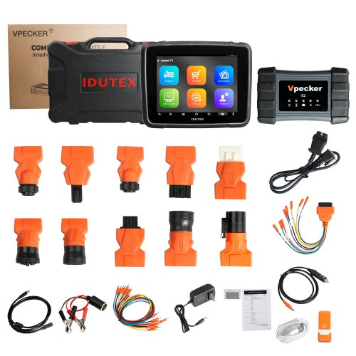 XTUNER T2 Full System Full function 8 inch tablet Diagnostic Tool for Heavy Duty Truck Commercial Vehicle and Machinerie
