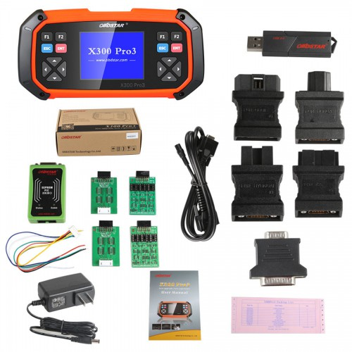 OBDSTAR X300 PRO3 Key Master Full Package Configuration Add More Functions Including F-100 and F108+All Function