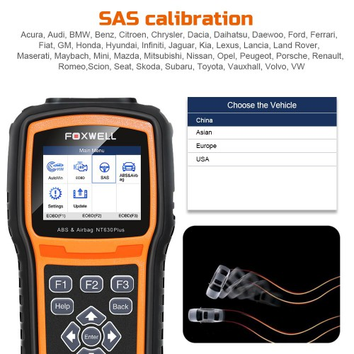 Foxwell NT630Plus NT630 Plus ABS & Airbag Reset Tool with SAS Calibration