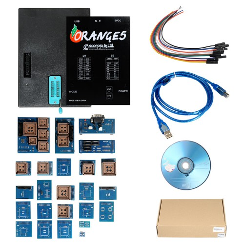 OEM Orange5 Professional Programming Device With Full Packet Hardware + Enhanced Function Software Support XP/WIN7/WIN8