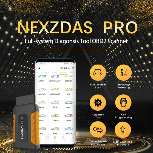 [Ship from UK/EU] Humzor NexzDAS Pro Full-system OBD2 Code Reader with Diagnosis Reset Service and key programming Function Support iOS andriod system