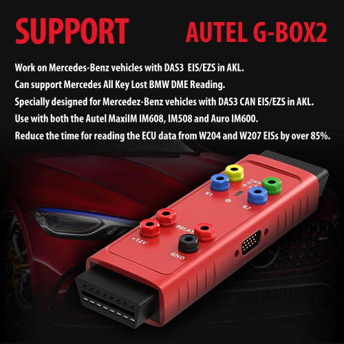 Autel G-BOX2 Tool for Mercedes Benz All Keys Lost G-Box Upgrade Version Works with Autel MaxiIM IM608