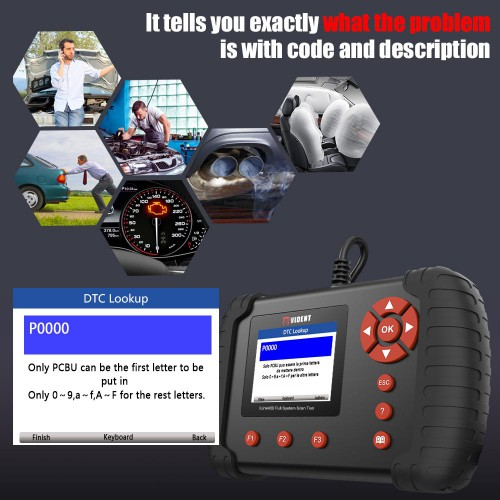 VIDENT iLink400 Full System Scan tool Support ABS / SRS / EPB / DPF Regeneration / Oil Reset Update  (Single Maker)