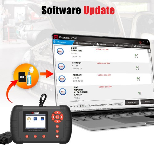 [Ship from UK/EU] VIDENT iLink400 Full System Scan tool Support ABS / SRS / EPB / DPF Regeneration / Oil Reset Update  (Single Maker)