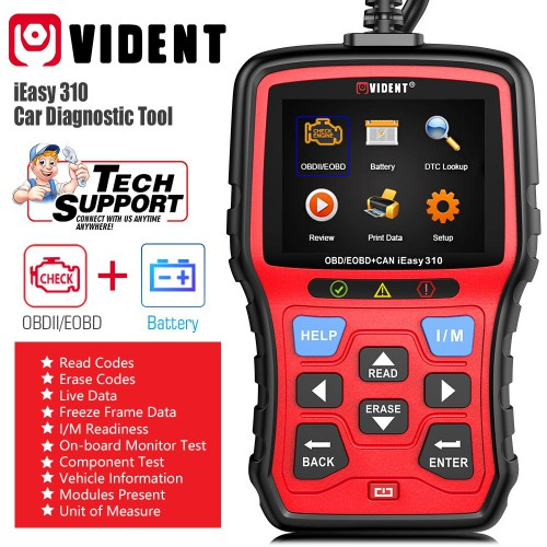 [Ship from UK/EU] 2021 new Vident iEasy310 CAN OBDII/EOBD Code Reader Automotive Scanner Lifetime free upgrade
