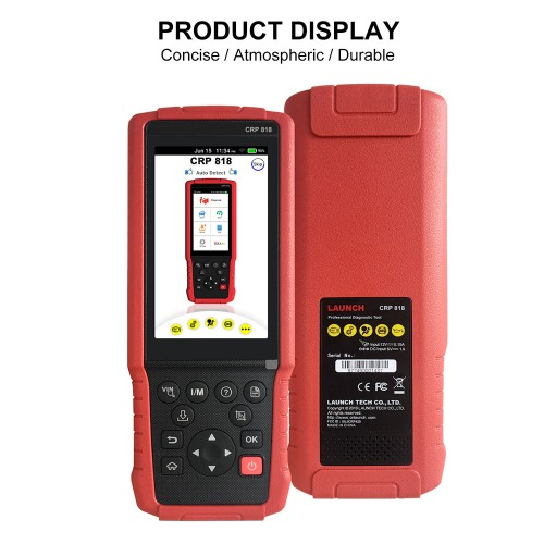 Launch CRP828 CRP-828 OBD2 Scanner Full System Diagnostic Scan Tool for Asian Cars with Oil reset TPMS reset EPB reset BMS reset Injector programming