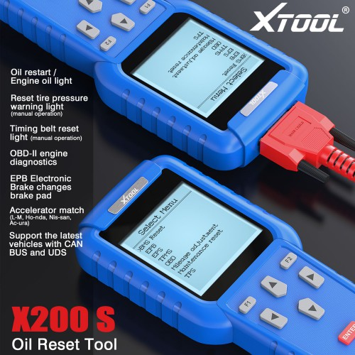 Original Xtool Oil Reset Tool X-200 X200 Professional hand auto maintenance resetter