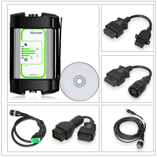 (Ship from UK) Round Port 88890300 Vocom Interface For Volvo Truck Diagnose Volvo/Renault/UD/Mack Multi-languages