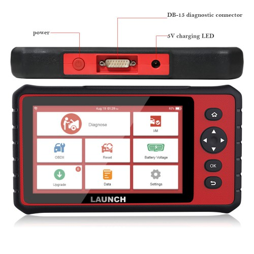 Launch X431 Creader 909 CRP909 Professional OBD2 Car Diagnostic Scanner Support Airbag/SAS/TPMS/IMMO with 15 Special Functions