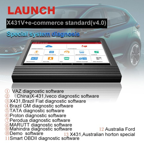 2020 Launch X431 V+ X431 V Plus 10.1inch Tablet V4.0 Global Version Full Systems Diagnostic Scan 2 Years Free Update Online
