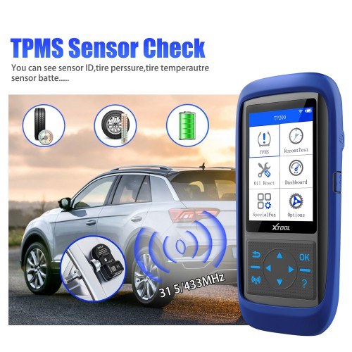 XTOOL TP150 Tire Pressure Monitoring System OBD2 TPMS Diagnostic Scanner Tool TPMS Program 15&433 MHZ Sensor