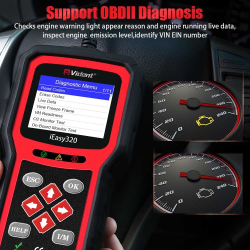 [Ship from UK/EU] VIDENT iEasy320 OBDII/EOBD+CAN Code Reader Free Shipping