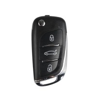(Ship from UK) 5pcs/lot XHORSE VVDI2 Volkswagen DS Type Remote Key 3 Buttons (Type X002)