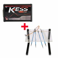 Best V2.47 KESS V2 V5.017 with Red Board Plus LED BDM Frame with 4 Probes Mesh