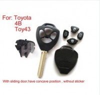 For Toyota Remote Key Shell 4 Button (without sticker) 10pcs/lot free shipping