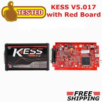 (Ship from UK) Best EU Online Version V2.47 Kess V2 V5.017 with Red Board Unlimited Tokens Add More 7400 Vehicles Get Free ECM V1.61