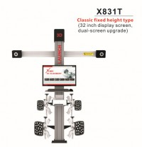 Original LAUNCH X831T X-831T 3D 4-Post Car Alignment Lifts Platform Classic Fixed Height Type 32inch Display Screen Dual-Screen Upgrade