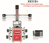 Original LAUNCH X831S+ X831S Plus 3D 4-Post Car Alignment Lifts Platform Supports multi-language UNICODE