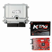 For Mercedes ME9.7 ME 9.7 ECU ECM Engine Computer Plus Red Board V2.25 KTAG V7020