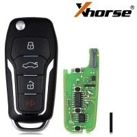 [Ship from UK] 5pcs/lot XHORSE XEFO01EN Super Remote Key Ford Style Flip 4 Buttons Built-in Super Chip English Version
