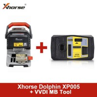 [Promo] Original Xhorse Dolphin XP005 Automatic Key Cutting Machine Plus VVDI MB Tool Get 1 Year Unlimited Token