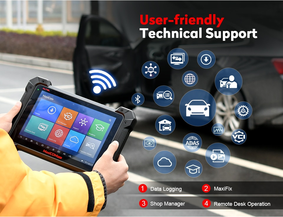 Original Autel MaxiCOM MK908P Full System Diagnostic Tool with J2534 ECU  Programming