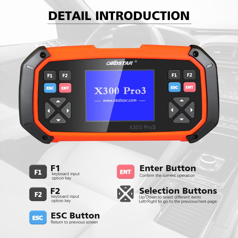 (Snip from UK) Original OBDSTAR X300 PRO3 Key Master Standard Configuration  Immobiliser+Odometer adjustment +EEPROM/PIC+OBDII