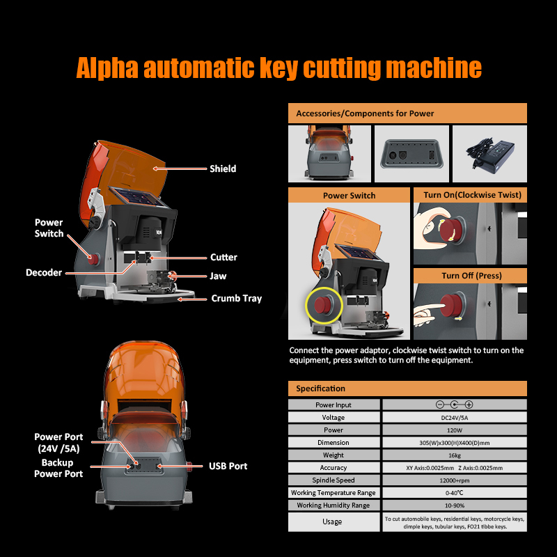 Alpha Key Cutting Machine - 05