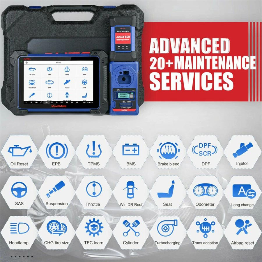 autel maxiim im608 advanced service functions