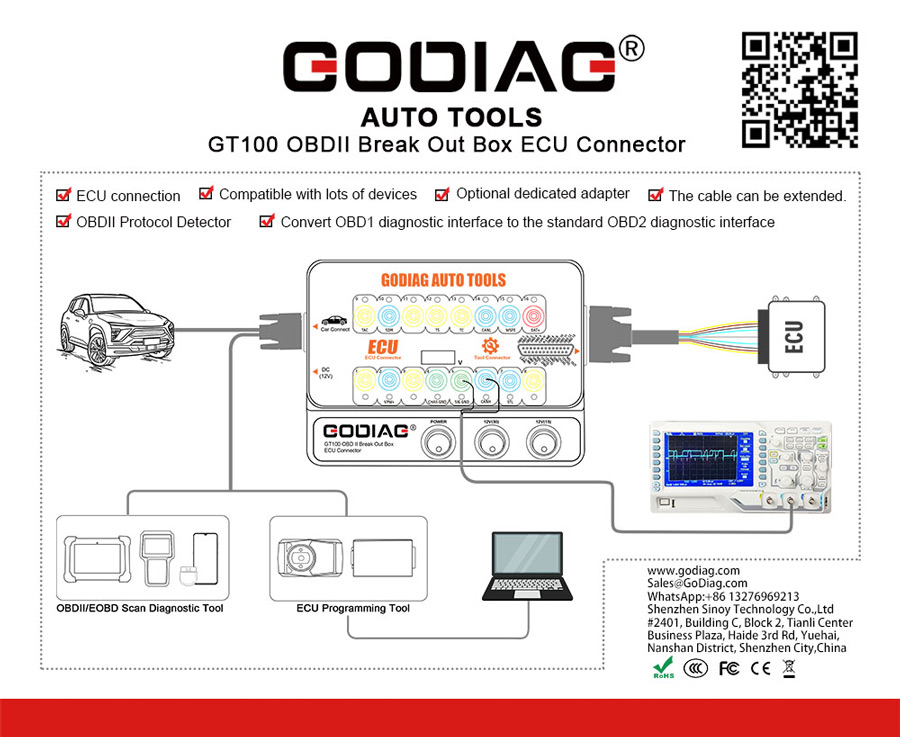 GODIAG GT100 hardware connection