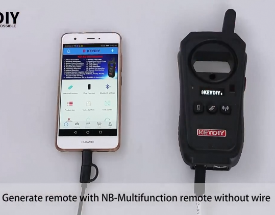 KEYDIY KD-X2 generate remote with nb-multifunction remote without wire