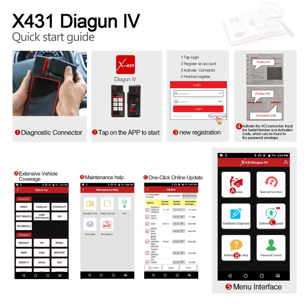 launch x431 diagun iv display 2